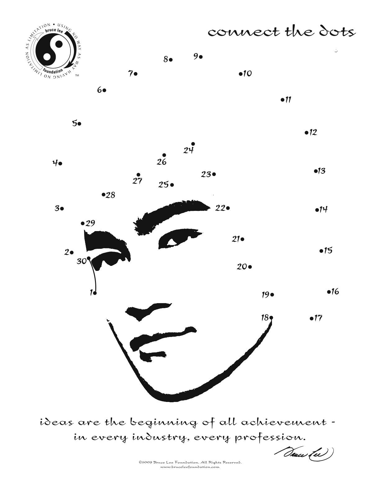 bruce lee coloring pages - photo#17